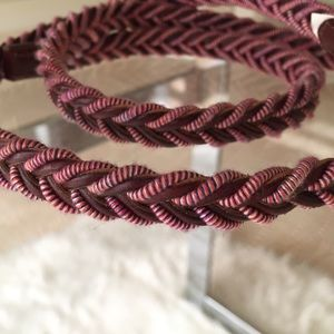 Accessories - Leather woven belt
